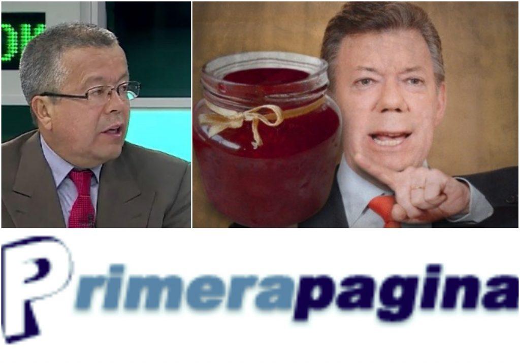 Mermelada del gobierno Santos en el portal Primera Pagina