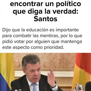 Las 61 mentiras de Juan Manuel Santos